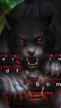 Bloody panther keyboard poster