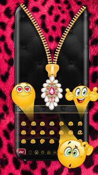 Pink Zipper Cheetah Keyboard apk screenshot