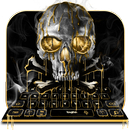 Gold Black Horrific Skull  keyboard APK