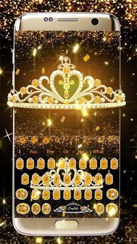 Gold Diamond Crown Keyboard poster