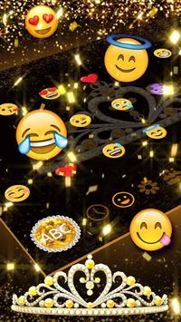 Gold Diamond Crown Keyboard apk screenshot