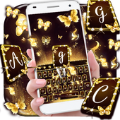 Gold Butterfly Keyboard Theme icon
