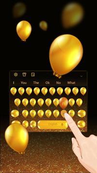 Golden balloon Keyboard poster