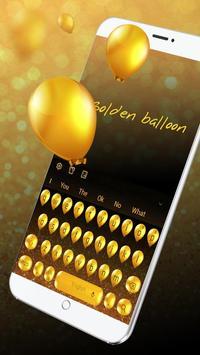Golden balloon Keyboard apk screenshot