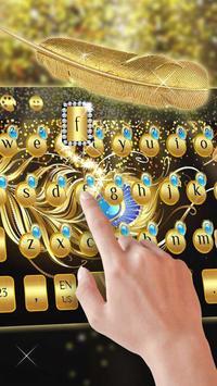 gold feather keyboard luxury golden mask apk screenshot