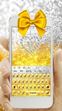 Gold Glitter Bowknot Keyboard poster