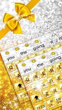 Gold Glitter Bowknot Keyboard apk screenshot