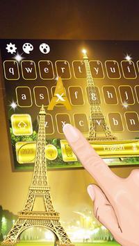 Golden Paris Keyboard Theme screenshot 1