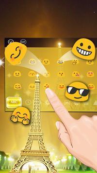Golden Paris Keyboard Theme screenshot 2