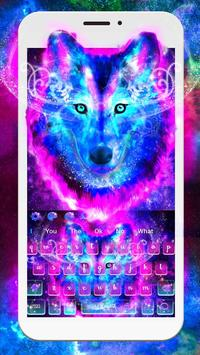 Galaxy Wild Wolf Keyboard Theme poster