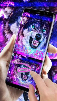 Galaxy Wolf poster