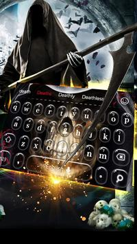 Ghost skeleton Keyboard poster