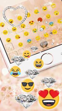 Glitter Diamond Jewelry Keyboard screenshot 1