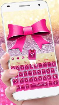 Pink Glitter Bowknot poster