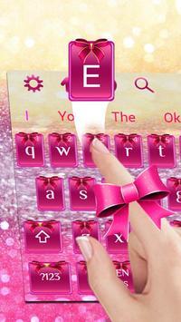 Pink Glitter Bowknot screenshot 1