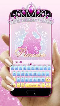 Glitter Princess Keyboard poster