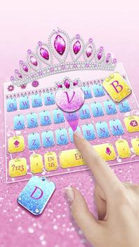 Glitter Princess Keyboard screenshot 1