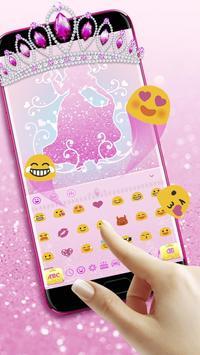 Glitter Princess Keyboard screenshot 2
