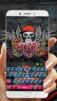 Graffiti Skull Keyboard Theme poster