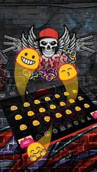 Graffiti Skull Keyboard Theme apk screenshot