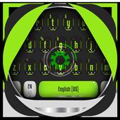 green mechanical eye keyboard magic ball icon