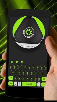 green mechanical eye keyboard magic ball poster