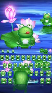 Green HD frog keyboard poster