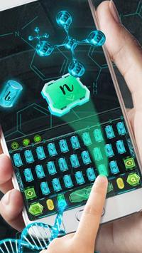 dna biotech keyboard life poster