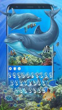 Dolphin Sea Keyboard Theme poster
