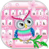 Diamond Cute Owl Keyboard icon