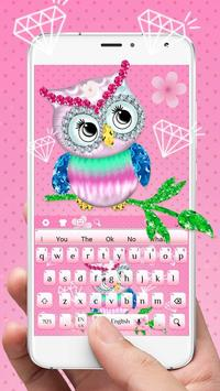 Diamond Cute Owl Keyboard screenshot 1
