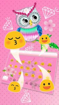 Diamond Cute Owl Keyboard screenshot 2