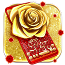 Teclado Diamond Gold Rose APK