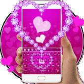Pink Diamond Heart Keyboard icon