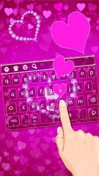 Pink Diamond Heart Keyboard poster