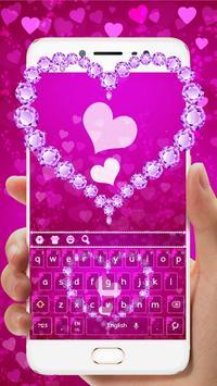 Pink Diamond Heart Keyboard screenshot 1