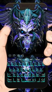 Blue Dragon Skull Keyboard Theme poster