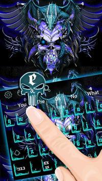 Blue Dragon Skull Keyboard Theme screenshot 2