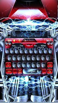 Flames Black Red Keyboard poster