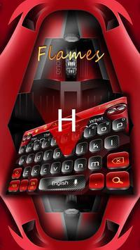 Flames Black Red Keyboard screenshot 1