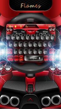Flames Black Red Keyboard screenshot 2