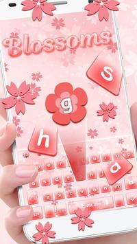 Blossoms Keyboard Theme apk screenshot