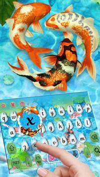 Koi  Pond Keyboard Theme apk screenshot