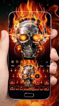 Horror Skull Keyboard Theme poster