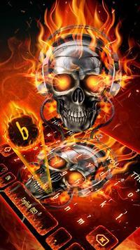 Horror Skull Keyboard Theme screenshot 1