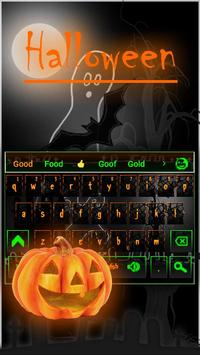 Halloween Night keyboard Theme poster