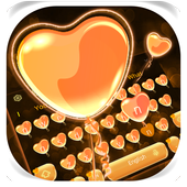 Orange Heart Balloon icon