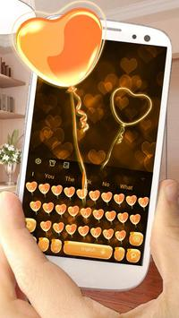 Orange Heart Balloon apk screenshot