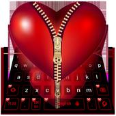 Red Zipper Heart Keyboard icon