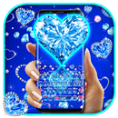 Blue Hearts Crystal Diamonds APK